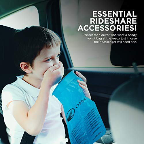 Pack of 45 Disposable Vomit Bags for Travel and Motion Sickness - Easy to Use, Lightweight Emesis Bag for Car, Boat, Airplane, Hospital Use by Ohwo (Image #6)