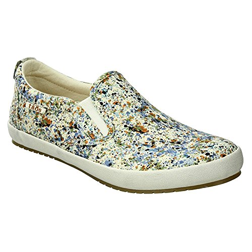 Taos Footwear Women's Dandy Slip On Sneaker,Blue Splash Canvas,US 8.5 M