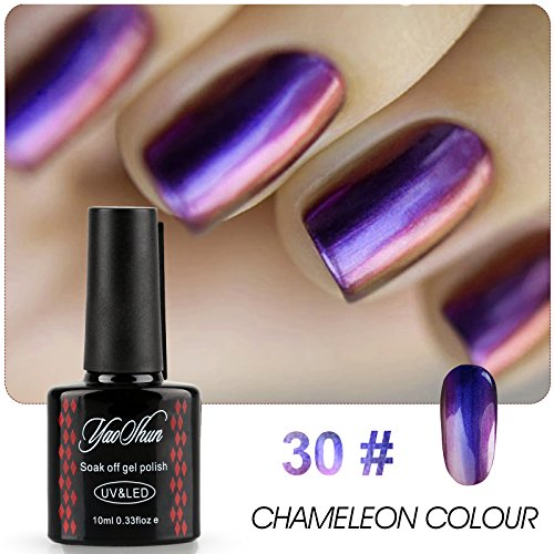 Yaoshun Brand Chameleon Colour Change Gel Nail Polish Soak O