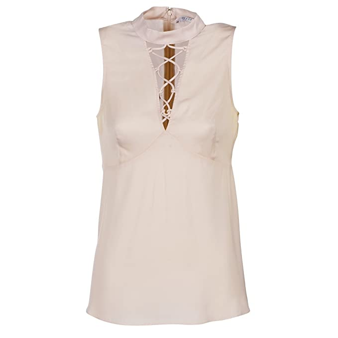 GUESS - Camiseta - para Mujer Rose Ivoire L