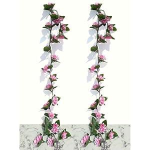 Neuhaus Decor 2 x 6ft Azalea Garlands, Artificial Plants 107