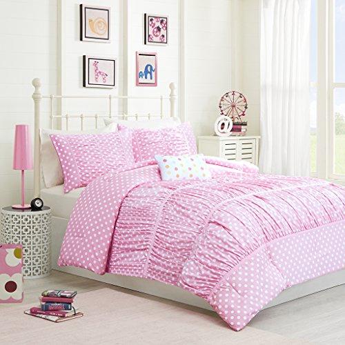 (Mizone Lia 4 Piece Comforter Set, Pink, Full/Queen)