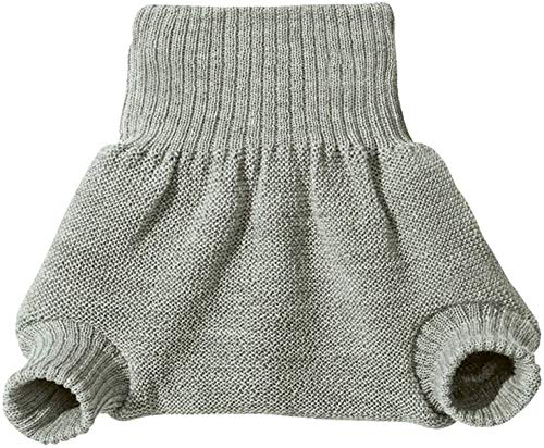 Disana 100% Organic Wool Diapers Cover/Soaker/Over Pants Made in Germany (3-6 Months (62-68), Grey)