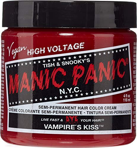 Manic Panic Classic Cream Vampire's Kiss Semi-Permanent Formula Hair Dye, Red, 4 oz]()
