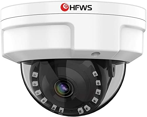HFWS Dome Security Camera Outdoor,5MP HD Wired Surveillance Cameras,Waterproof,Night Vision,Motion Detect,Audio,Support Onvif