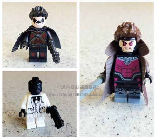 3Pcs Gmabit Red Robin Black Mask Super Hero figures Lot Kids Building Blocks Toy ()