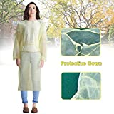 10pcs Disposable Isolation Gowns - Knit Cuff Non