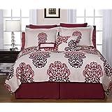 Pointehaven Printed 300 TC 3-Piece 100-Percent Combed Cotton Duvet Set, Cherry Blossom, King