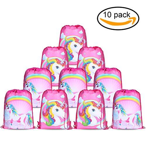 Konsait Unicorn Bags for Unicorn Party Supplies Drawstring Shoulder Backpack Bag (Pinata Ideas For Halloween)