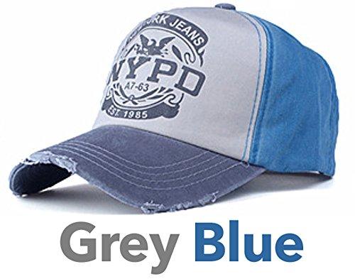 de Hombre para Talla Grey York béisbol única Blue Azul New Jeans amp; Gorra FZ1n4q