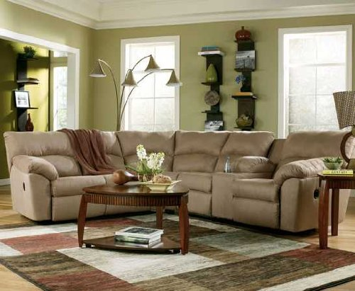 Ashley Amazon 617004849 Sectional Sofa with Left Arm Facing Reclining Loveseat and Right Arm Facing Reclining Loveseat with Console in : ashley sectional with chaise - Sectionals, Sofas & Couches