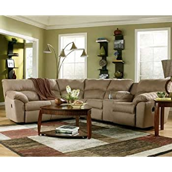 Ashley Amazon 617004849 Sectional Sofa with Left Arm Facing Reclining Loveseat and Right Arm Facing Reclining  sc 1 st  Amazon.com : ashley reclining sectional - Sectionals, Sofas & Couches