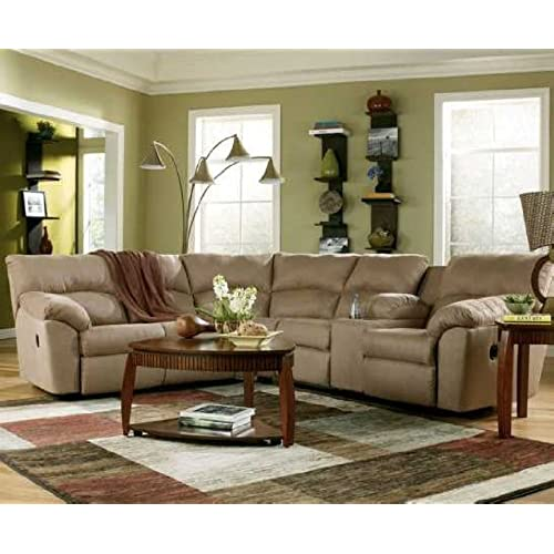 Ashley Amazon 617004849 Sectional Sofa With Left Arm Facing Reclining  Loveseat And Right Arm Facing Reclining Loveseat With Console In