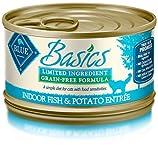Blue Buffalo Basics Cat Fish & Potato Entree Wet Cat Food, 3 oz Can, Pack of 24 by Blue Basics