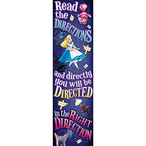 Eureka Alice In Wonderland Vertical Classroom Banner, Directions,