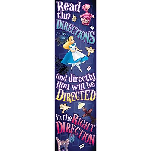 Eureka Alice In Wonderland Vertical Classroom Banner, Directions, Measures 45 x -