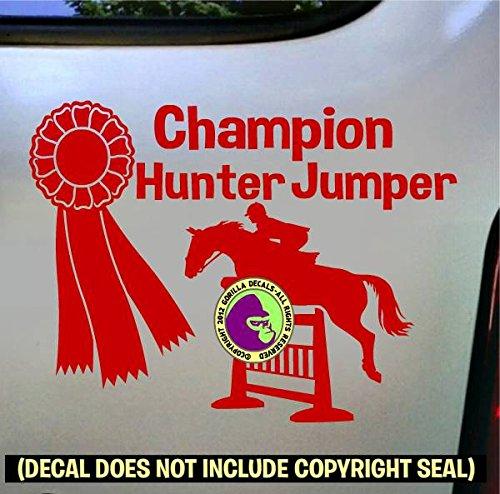 CHAMPION HUNTER JUMPER Vinyl Decal Sticker B