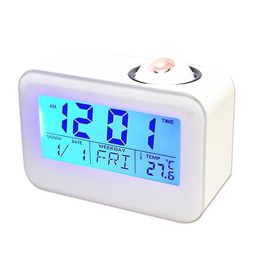 Despertador Proyector, Reloj Despertador Digital con Función ...