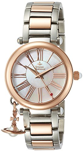 Vivienne Westwood watch ORB white mother-of-pearl dial stainless steel Quartz VV006PRSSL Ladies