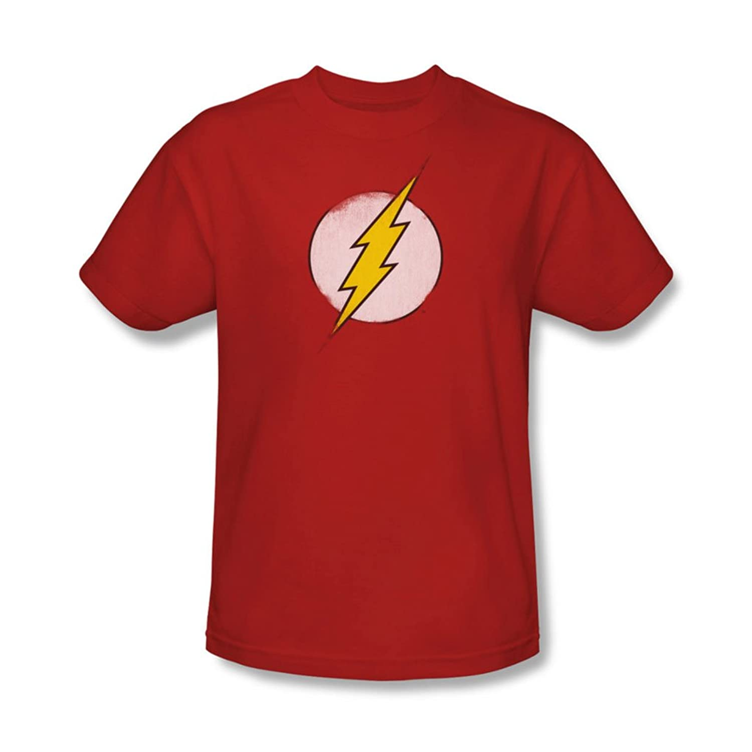 Dc Comics - Mens Rough Flash Logo T-Shirt In Red