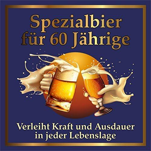 RAHMENLOS 3 St. Original Design: Selbstklebendes Bier-Flaschen-Etikett zum 60. Geburtstag.