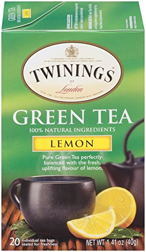 Twinings of London Lemon Green Tea, 20 Count (Pack of 6)