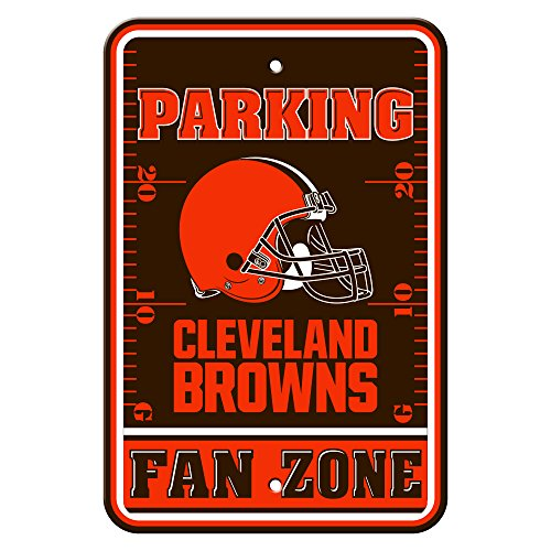 NFL Cleveland Browns Fan Zone Plastic Parking Sign, One Size, Team (1 Fan Sign)