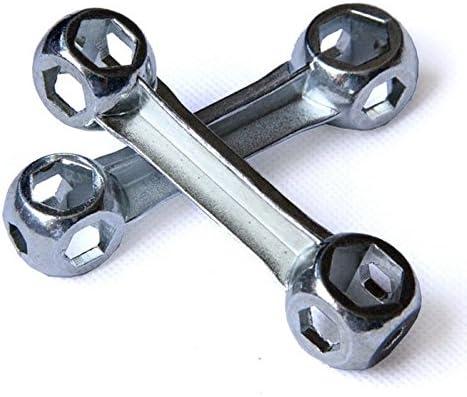 10 en 1 hueso forma llave dinamom/étrica mini port/átil bicicleta bicicleta herramienta de reparaci/ón hex/ágono agujeros ciclismo Spanner mano multi herramientas