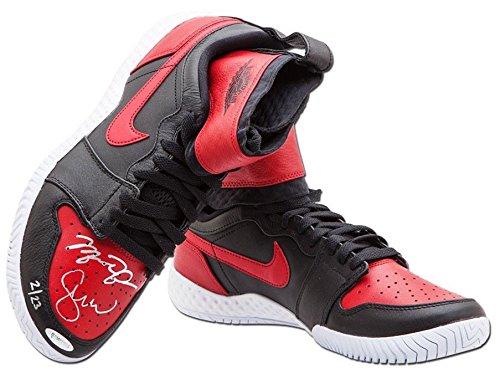 MICHAEL JORDAN/SERENA WILLIAMS Dual Signed Jordan 1 Shoes UDA LE 23