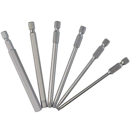 6 paquetes de puntas de destornillador hexagonales de 100 mm con ...