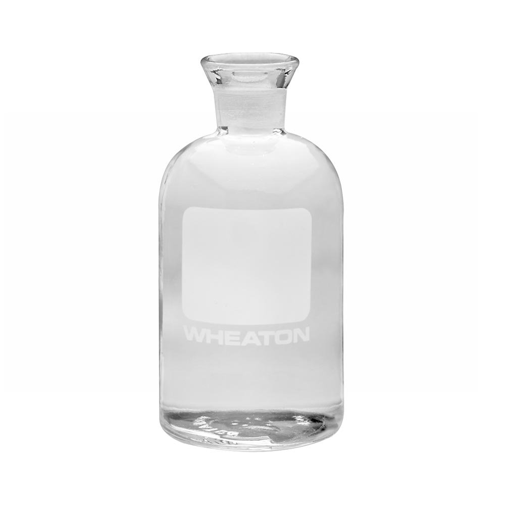 Wheaton 227498 Glass BOD Bottle without Stopper, 69mm Diameter x 165mm Height, 300mL Capacity, Unnumbered (Case of 24)