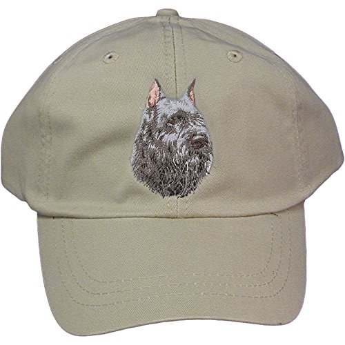 Cherrybrook Dog Breed Embroidered Adams Cotton Twill Caps - Stone - Bouvier des Flandres