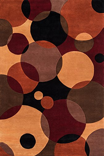 """Rugs  New Wave Collection, 100% Wool Hand Carved & Tufted Contemporary Area Rug, 5'3"""" x 8', Black - Momeni NEWWANW-37BLK5380"""