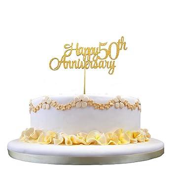 Amazon.com: Decoración para tarta de 50 aniversario de 50 ...