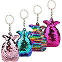 4-Pieces XLStore Fashion Reversible Bag Buckle Pendant Colorful Keyrings