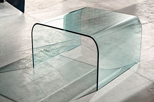IMAGO FACTORY Greta Ponte in Vetro curvato Tavolo Moderno da Salotto