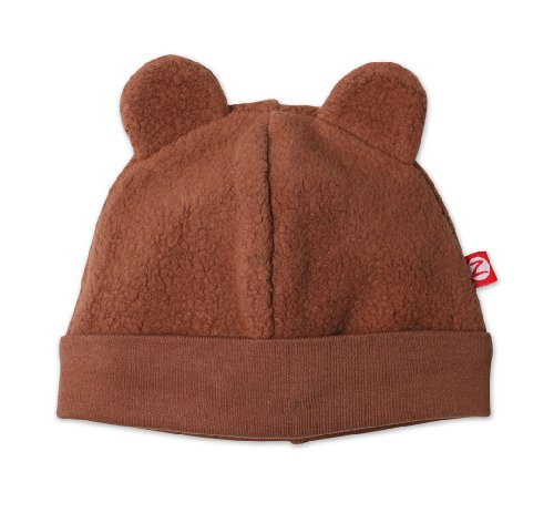 Zutano Infant Unisex-Baby Fleece Hat,Chocolate,6m (0-6 months)