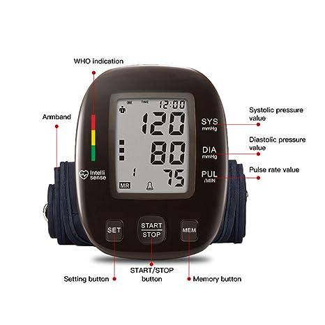 WShijie Tensiómetro electrónico del Brazo Superior Monitoreo Irregular de la frecuencia cardíaca Medición precisa Adecuado para Personas Mayores,Brown: ...