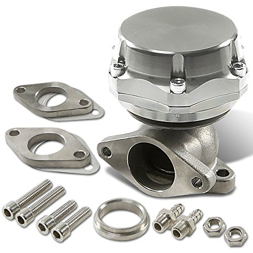 38mm Bolt-on 7/13/20 PSI External Turbo Exhaust Manifold Wastegate (Silver) (External Wastegate)