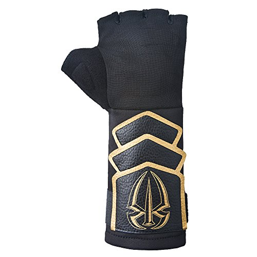 Roman Reigns Gold Logo WWE Authentic Superman Punch Glove Set,One (Roman Reigns Costume)