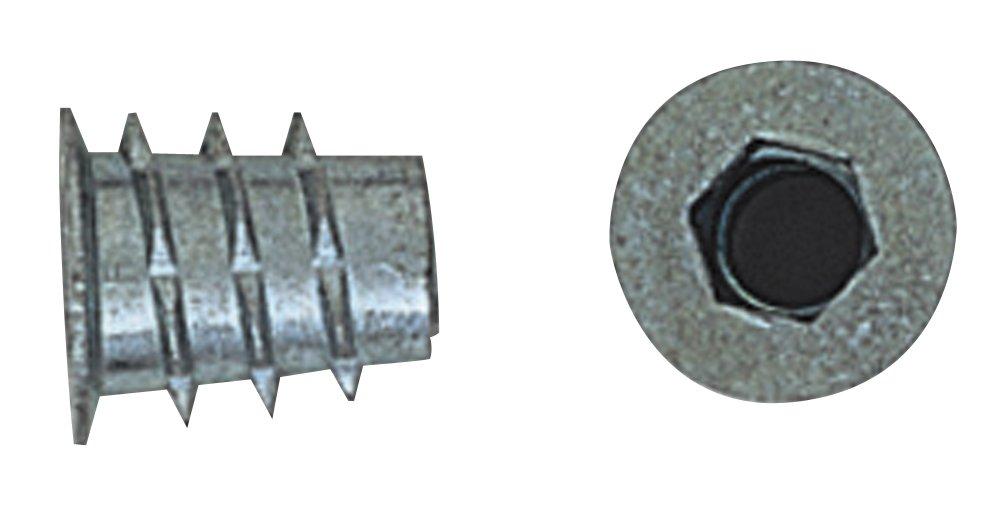 Platte River 812466, 50-pack, Fasteners, Knock Down (kd), 1/4-20 X 13mm Type D Zinc Insert
