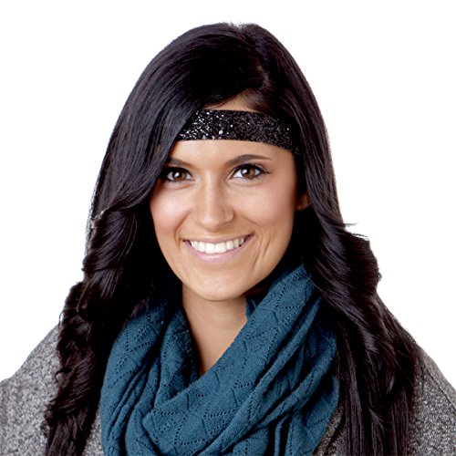 Hipsy 5pk Women's No Slip Headband Adjustable Flowers of Love