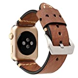 NATO Watch Band 42mm for Apple Watch Leather Watch Strap for Iwatch Series 1 Series 2 Series 3