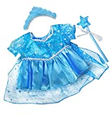 Stuffems Toy Shop Blue Snow Princess Gown Outfit Teddy Bear Clothes Fits 8 inch to 10 inch Build-a-Bear, Vermont Teddy Bears, and Make