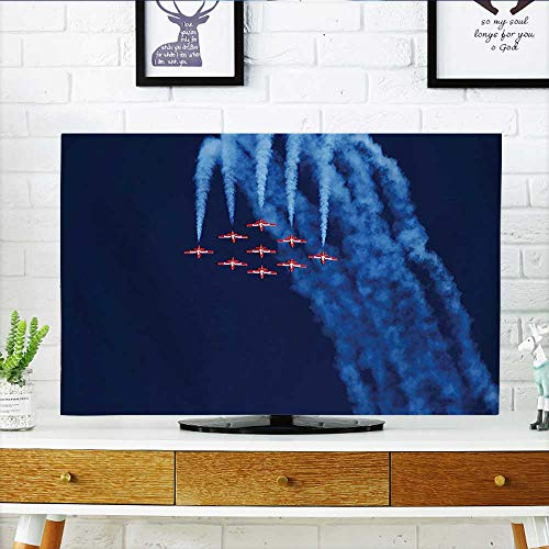 (Cord Cover for Wall Mounted tv Digital View of Canadian Descending Snowbirds Up in The Air Military Flight Image Cover Mounted tv W20 x H40 INCH/TV)