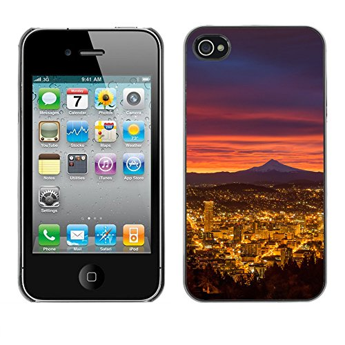 Premio Sottile Slim Cassa Custodia Case Cover Shell // F00031730 Luminant nuit // Apple iPhone 4 4S 4G