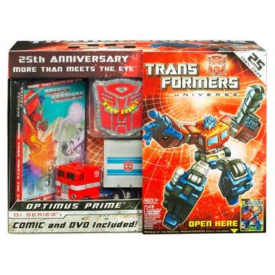 Transformers Universe 25th Anniversary GI Series Deluxe Box Set Optimus Prime
