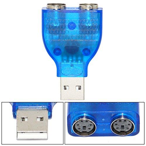 SaiTech IT USB TO Dual PS2 Convertor Adapter - Blue