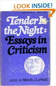 critical essays on tender is the night Download and read critical essays on f scott fitzgeralds tender is the night critical essays on f scott fitzgeralds tender is the night new updated.