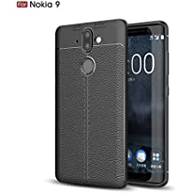 Nokia 8 Sirocco Case, TopACE [Shock Absorption] Flexible TPU Soft Skin Silicone Cover for Nokia 9 / Nokia 8 Sirocco (Black)